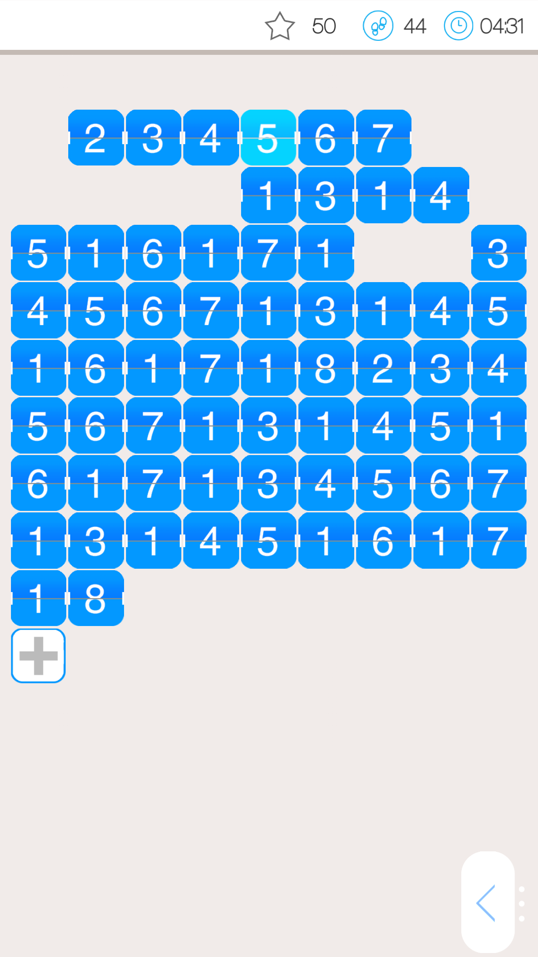 1/19 Number Puzzle Game
