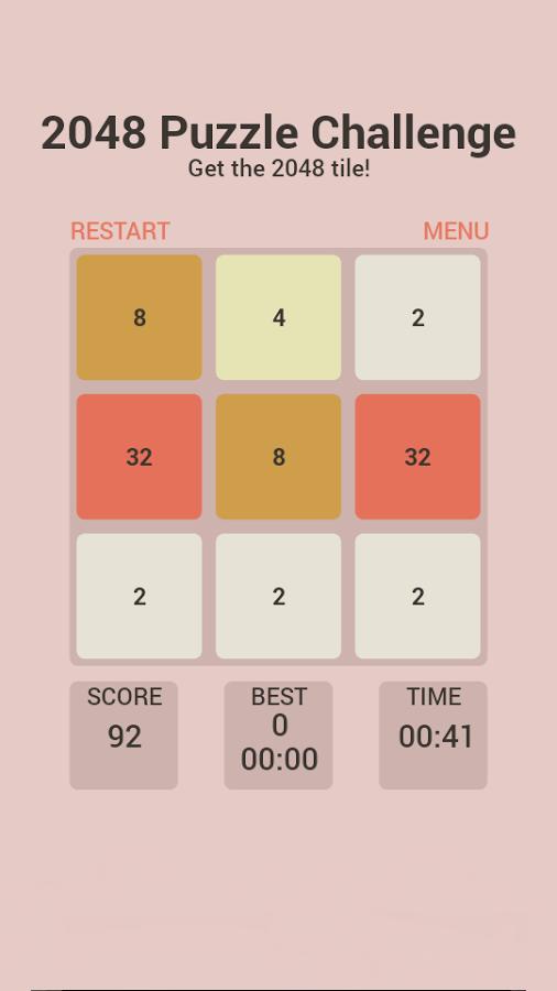 2048 Puzzle Challenge