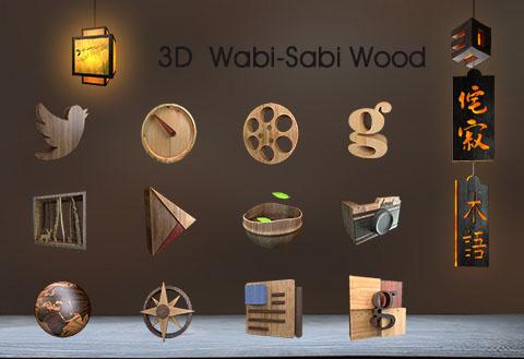 3D Wabi-Sabi Wood-Solo Theme