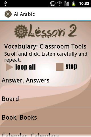 Al Arabic Lessons 1-5