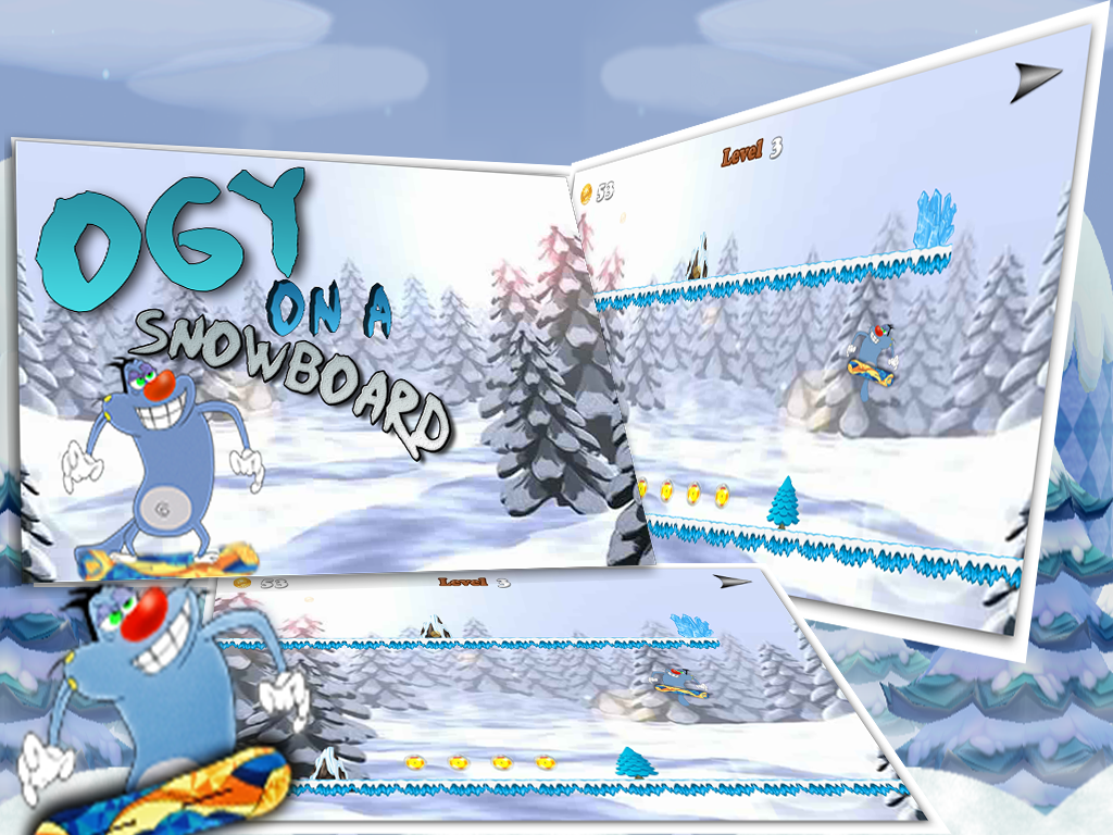 Amazing Ogy On A Snowboard