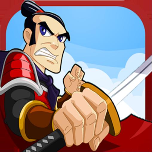 Angry Samurai Running