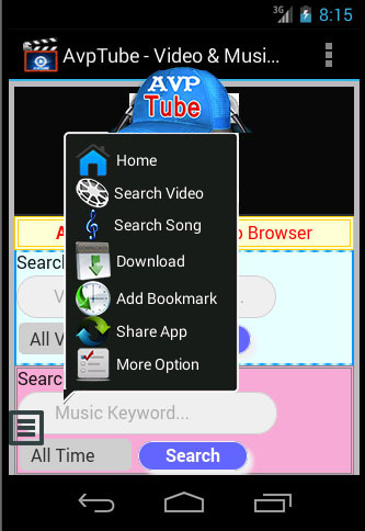 Avptube – Video & Music Play, Search