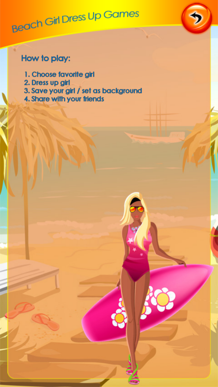 Beach Girl Dress Up Games