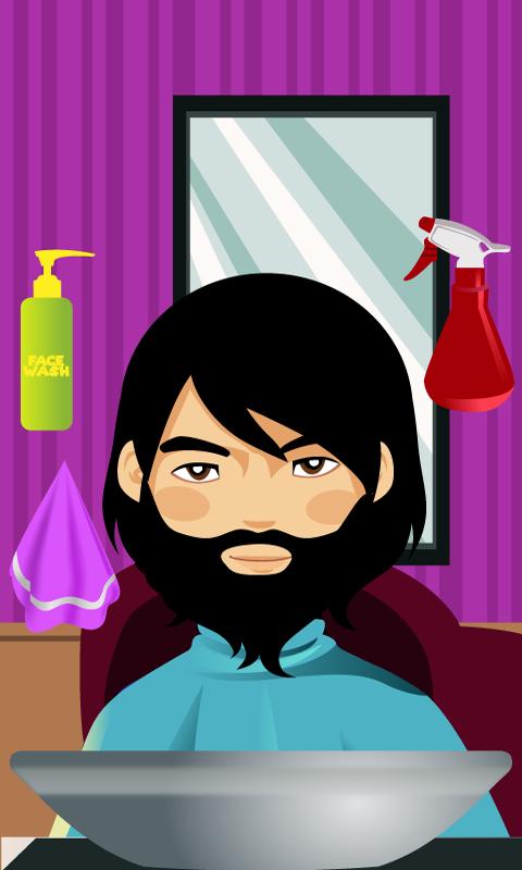 Beard & Mustache hairy salon