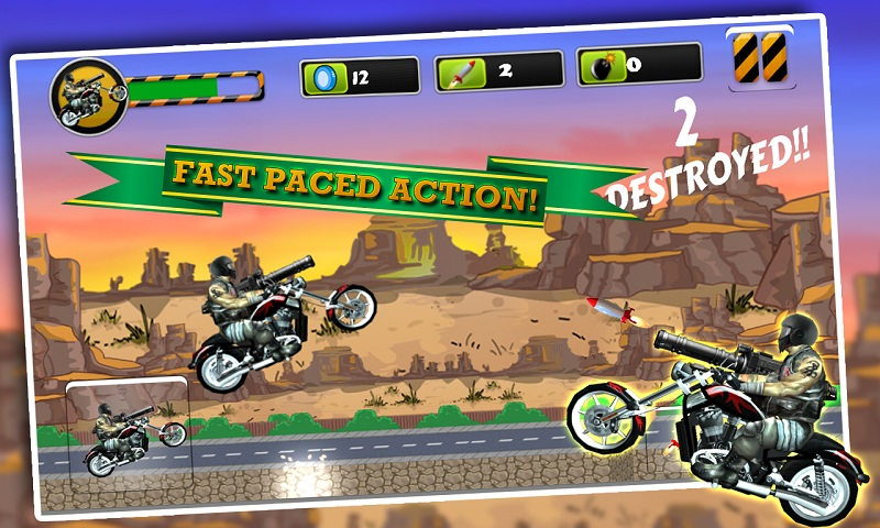 Biker Ninja Quick Gun Escape