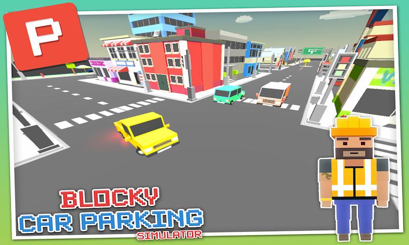 Blocky Car Parking Simulator
