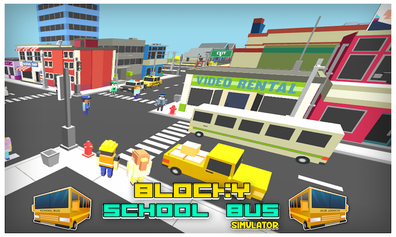 Blocky School Bus Simulator