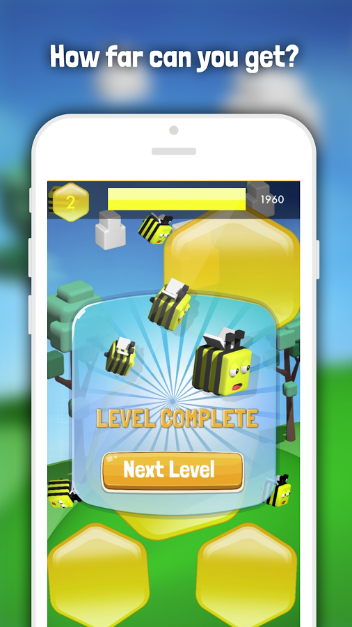Bubble Bee Game, iOS, Android App