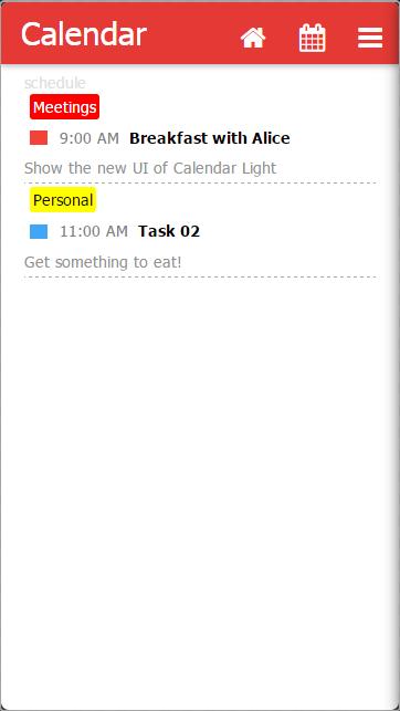 Calendar Light