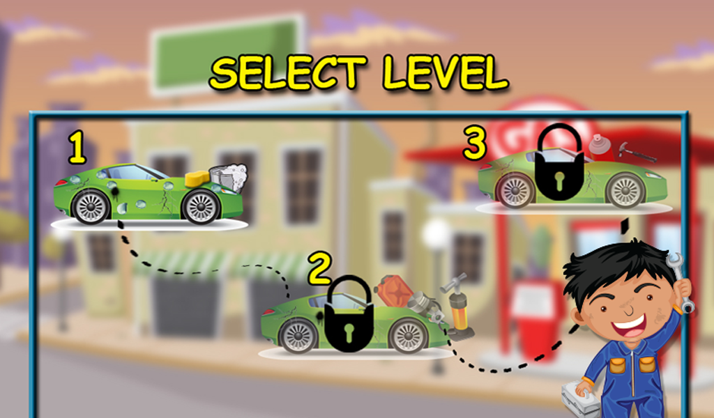 Car factory & repair Shop game