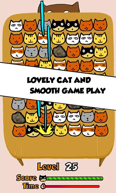 Cat Match Three Puzzle