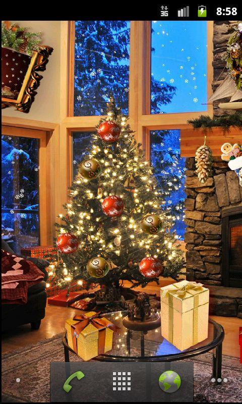 Christmas Fireplace LWP