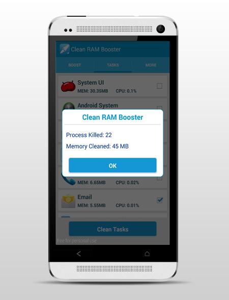 Clean RAM Booster
