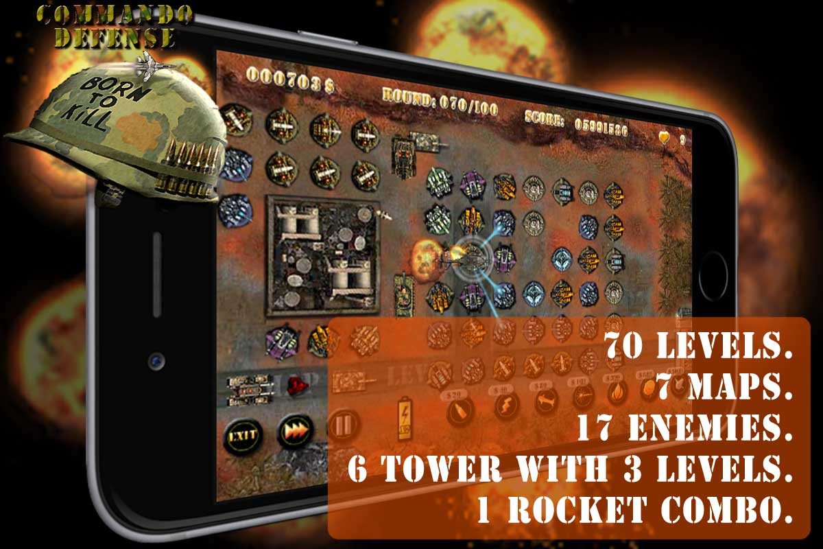 Commando Tower Defense HD