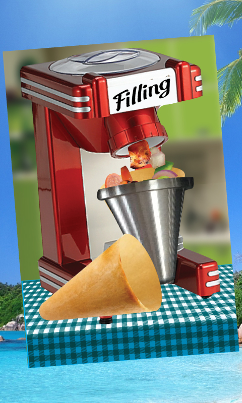 Cone pizza maker cooking chef