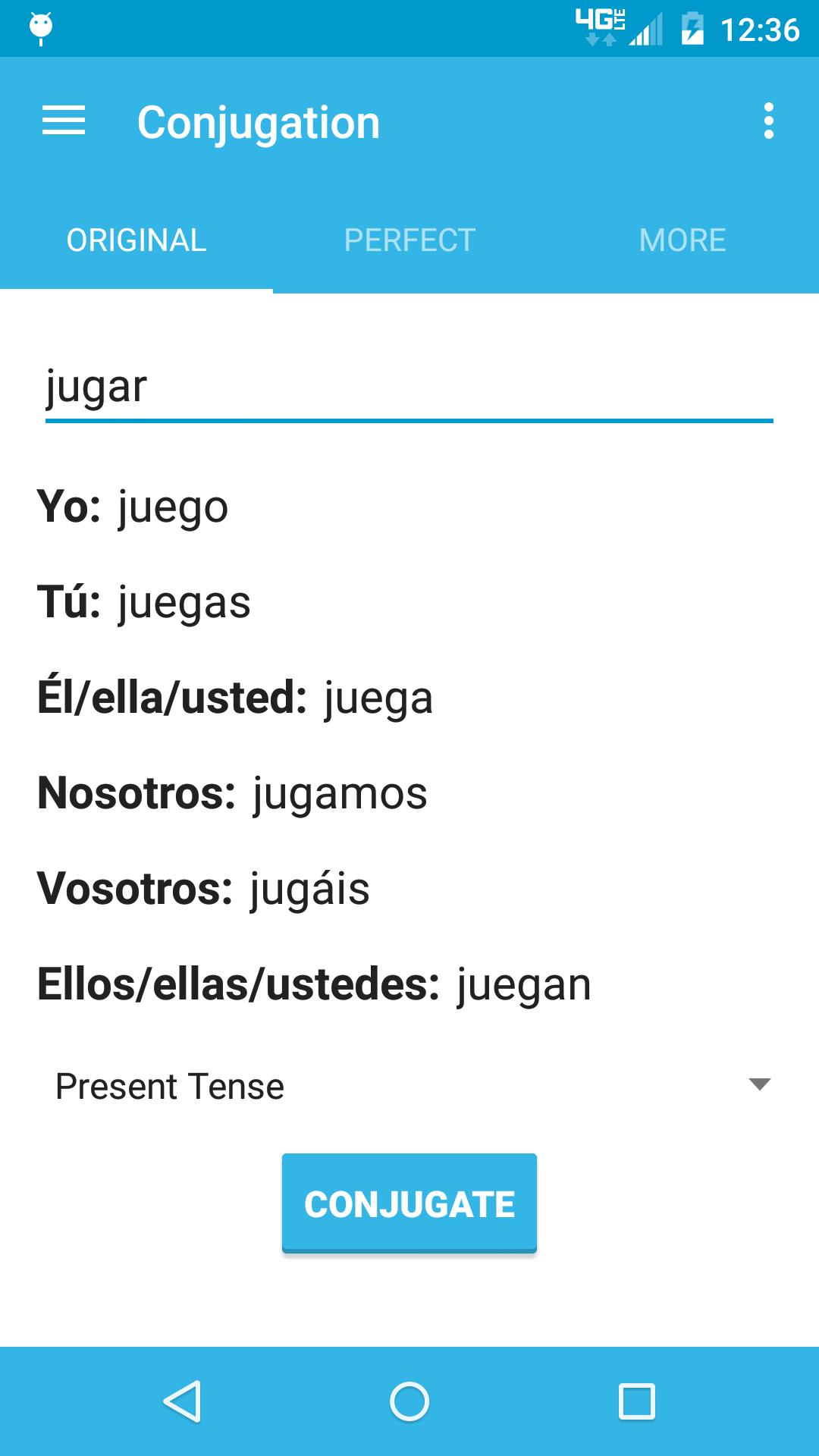 Conjugate Spanish Verbs