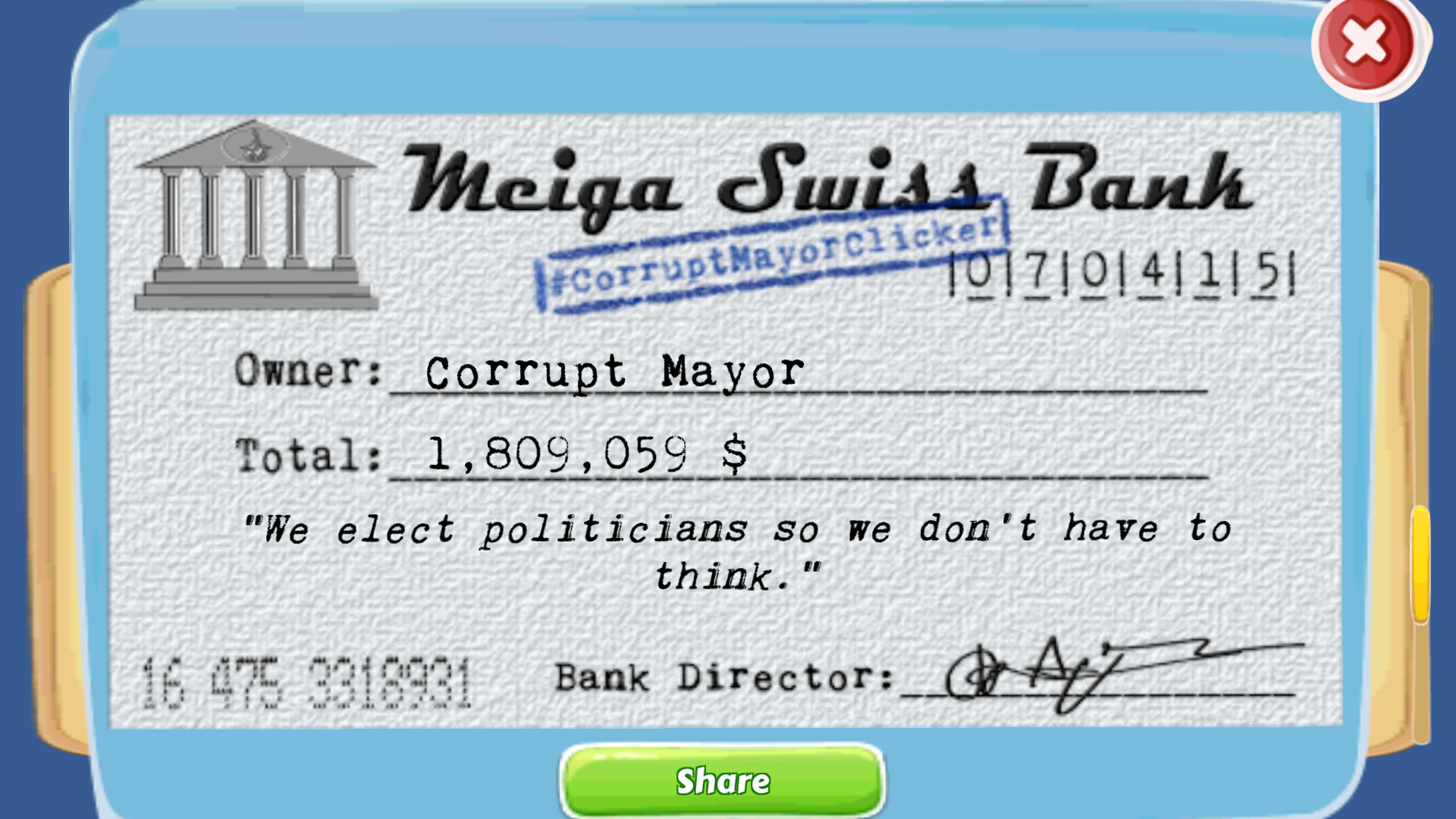 Corrupt Mayor Clicker
