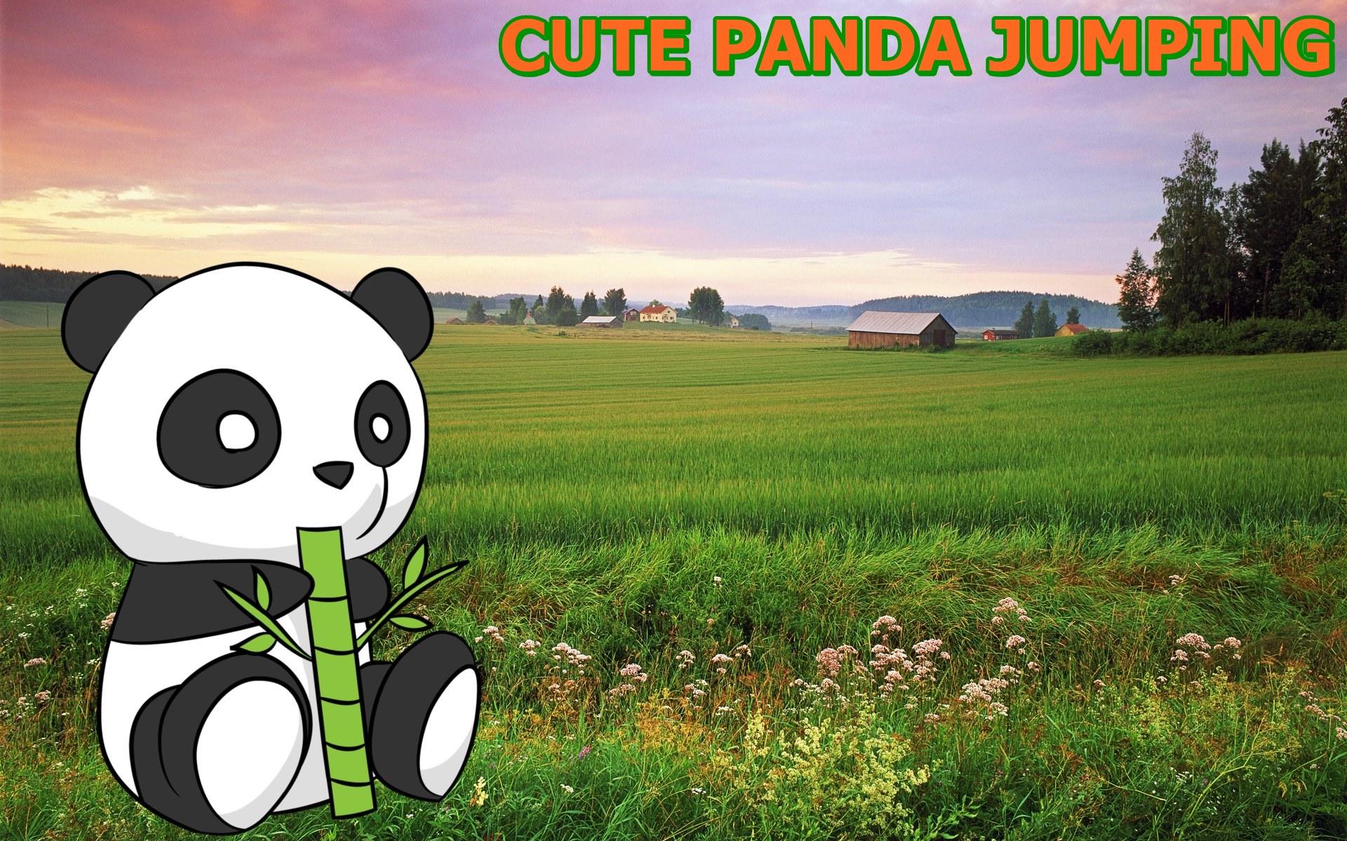 Cute Panda Jumping