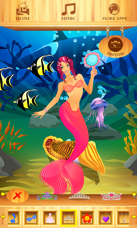 Dress Up Princess Mermaid