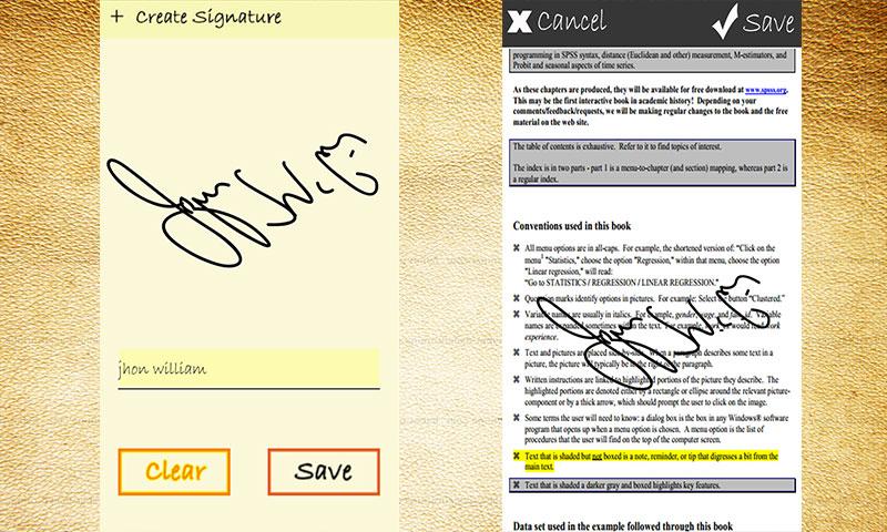 E Signature