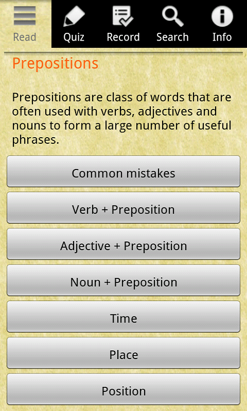 English Grammar -Preposition