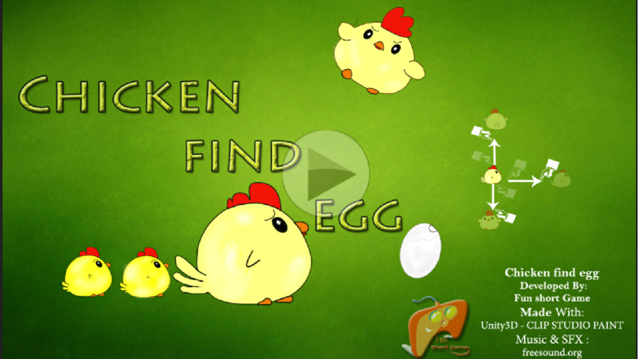Chicken find egg