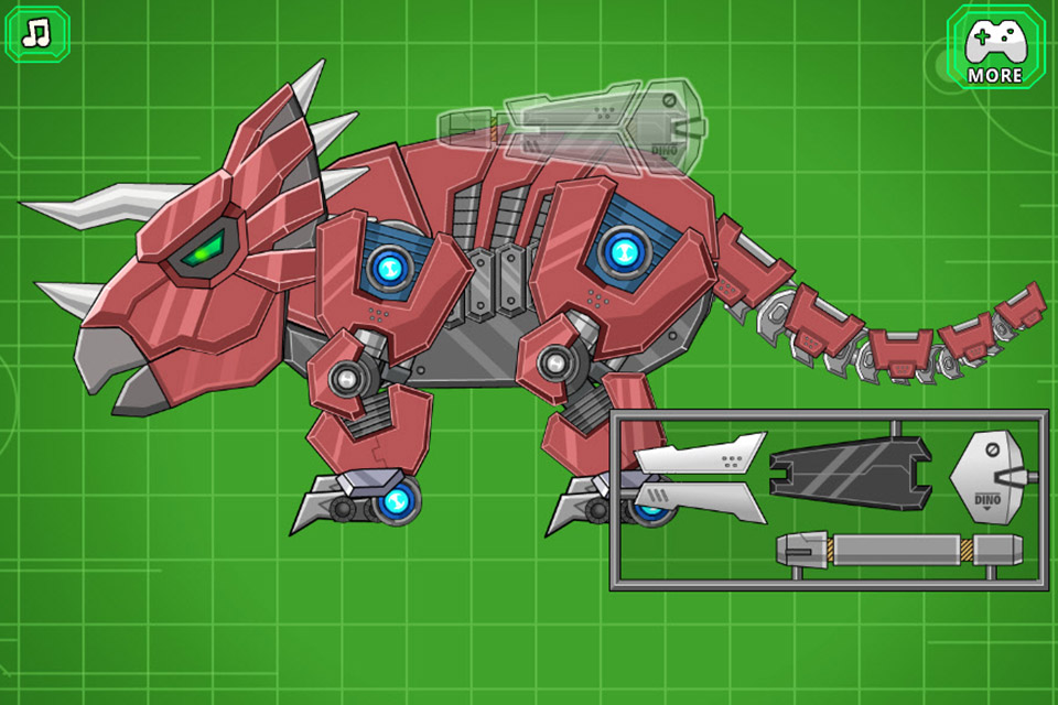 Toy War Robot Triceratops