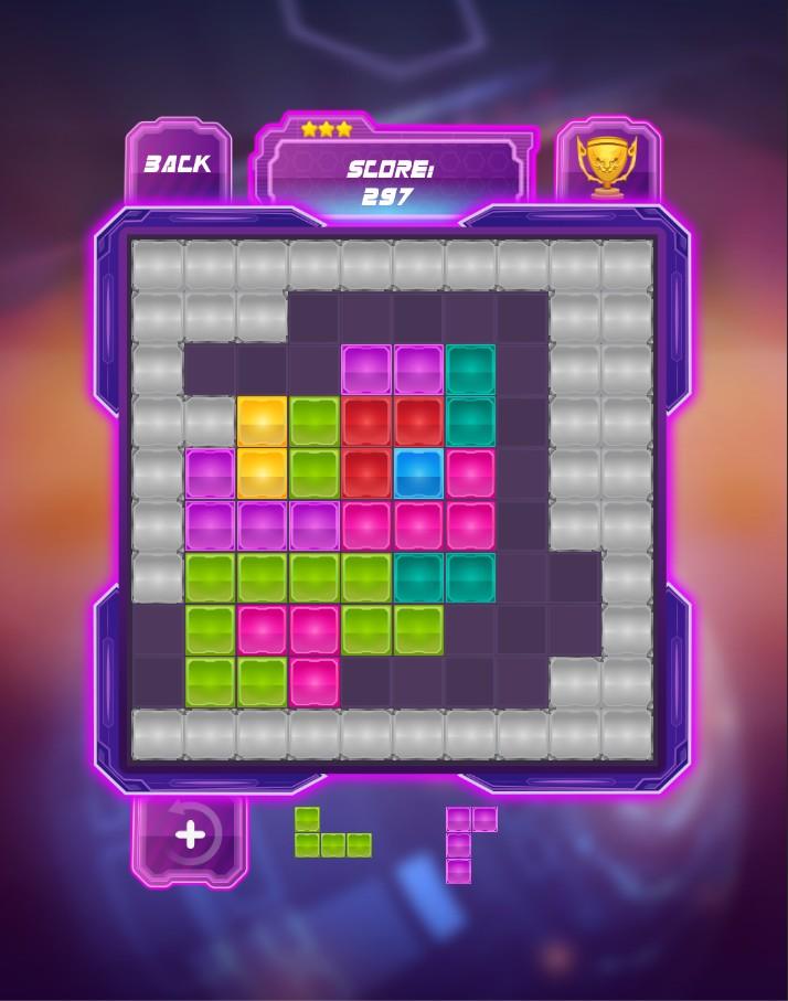 Block Puzzle : Glow Breaker