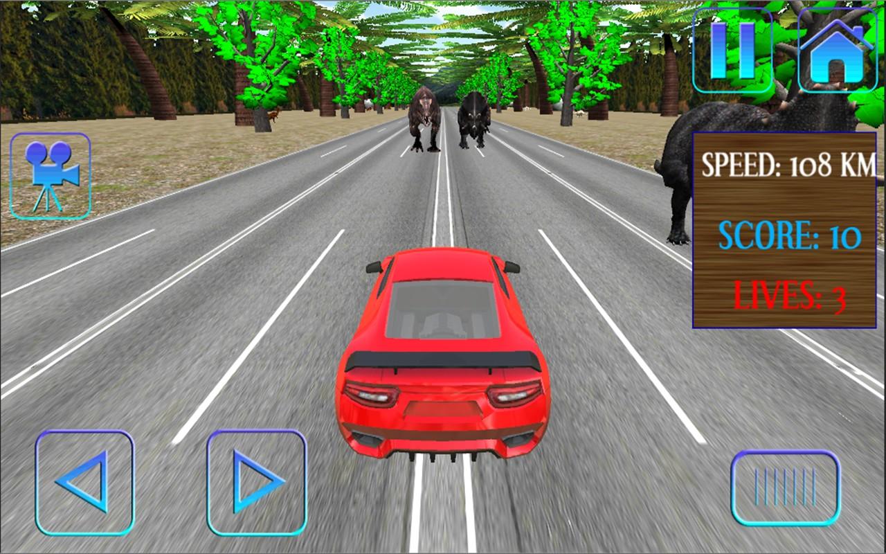 Car Racing in Dinos
