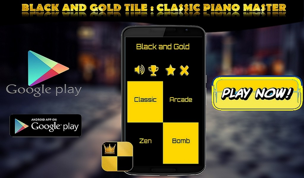 Piano Tiles 2 Gold & Black