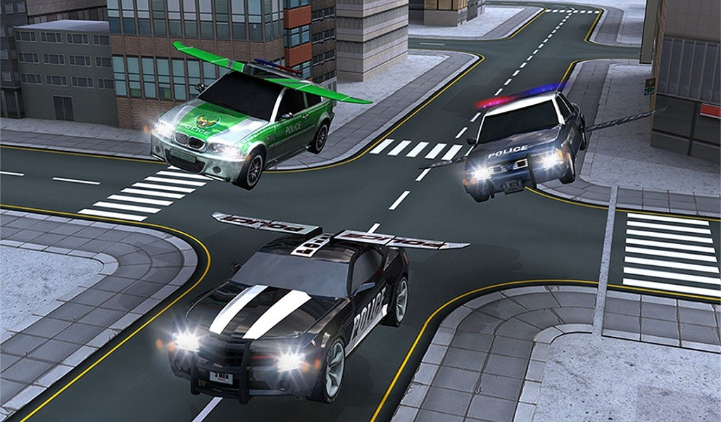 Police Flying Car 3D Simulator