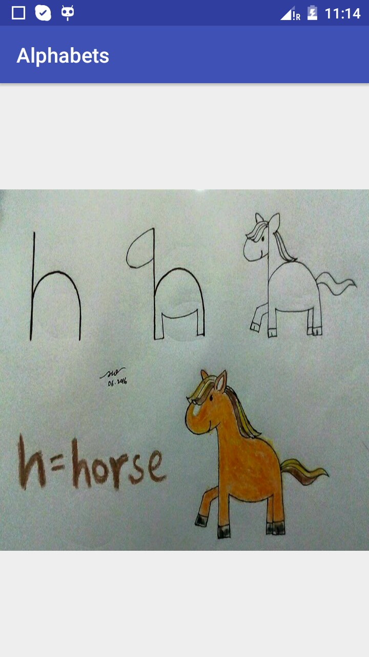 Alphabets learning app for kids