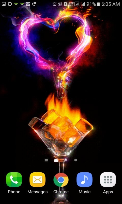 Fiery Ice Heart LWP