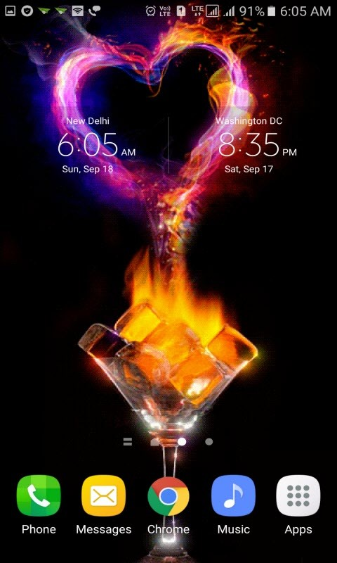 Fiery Ice Heart LWP