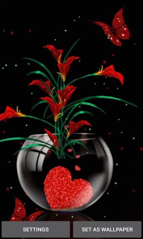Heart Flowers Pot LWP