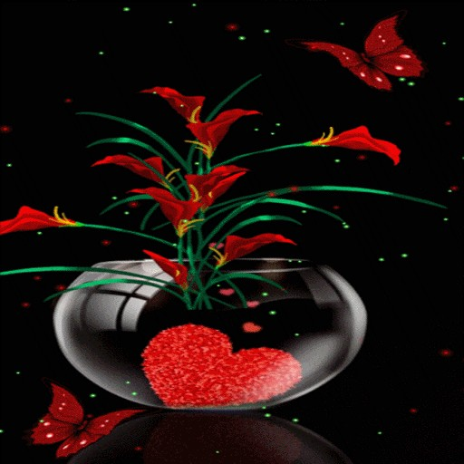 Heart Flowers Pot LWP