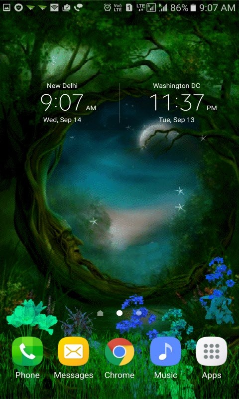Magical Night Live Wallpaper