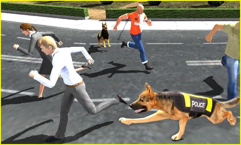 Police Dog Chase Criminal 3D