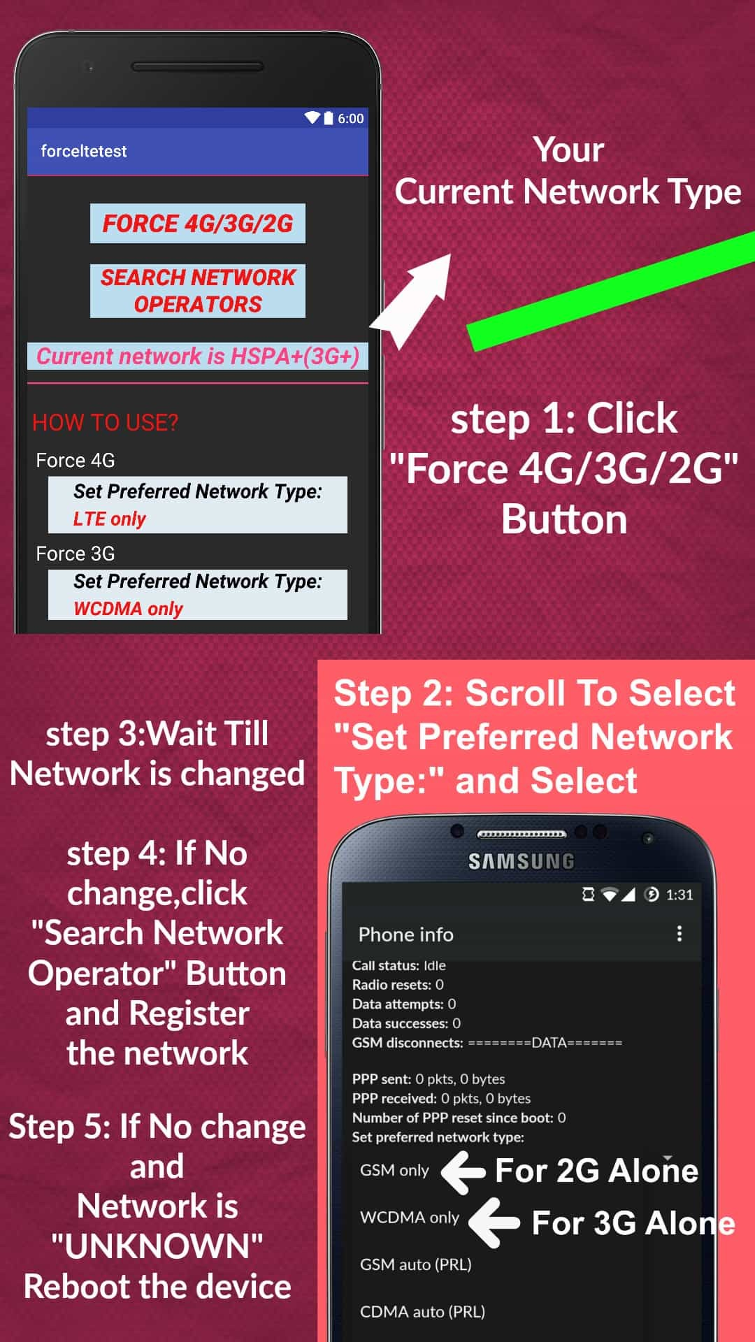 How to Force 4g only on android