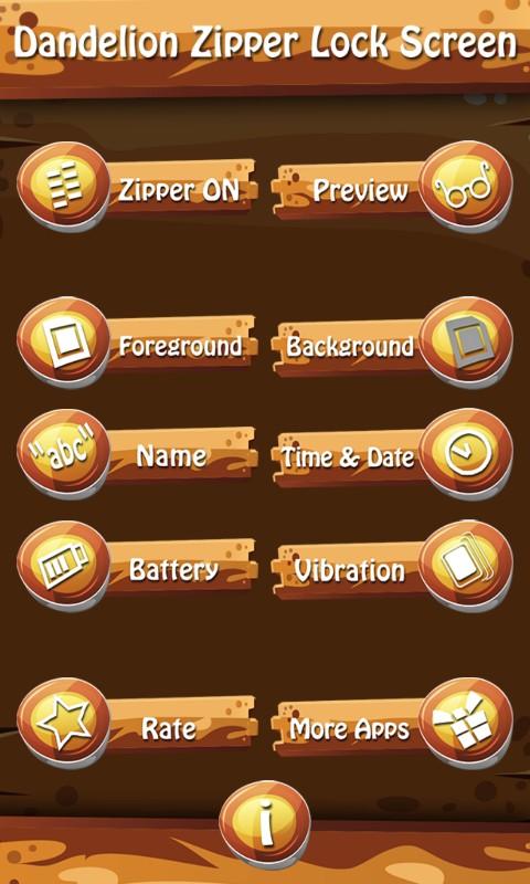 Dandelion Zipper Lock Screen