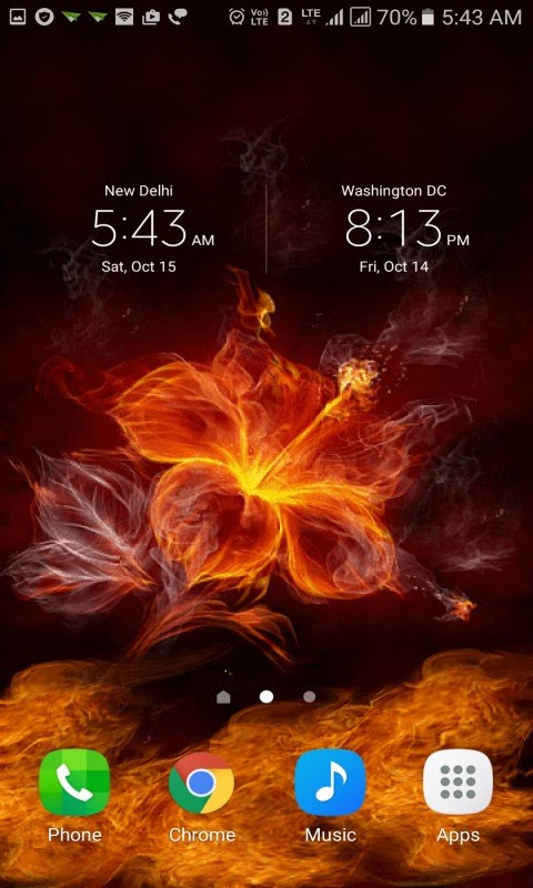 Fiery Flower Live Wallpaper