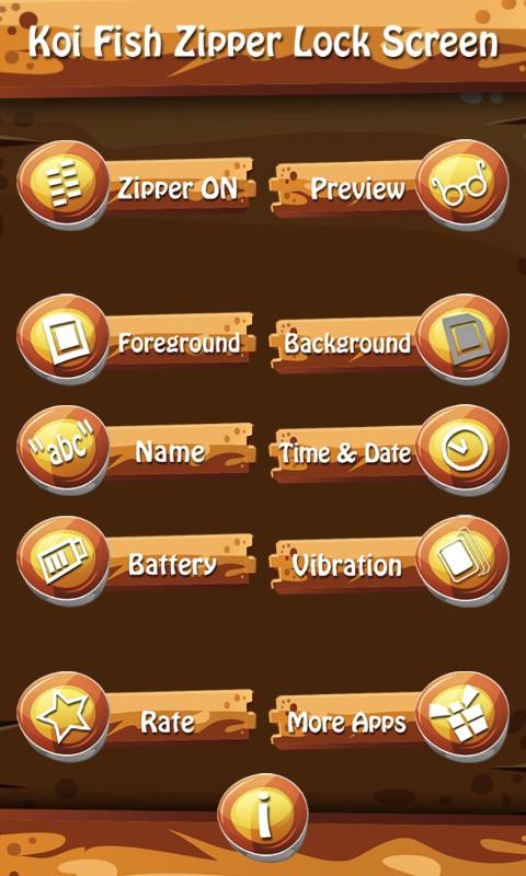 Koi Fish Zipper Lock Screen