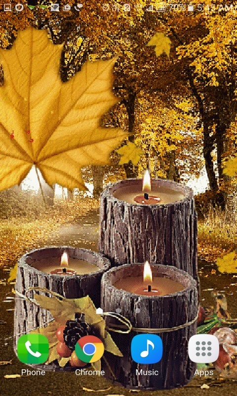 Wood Candles Live Wallpaper