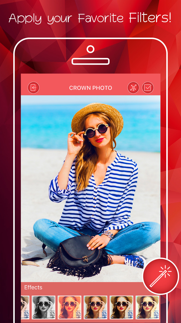 Flower Crown Image Editor App For Iphone