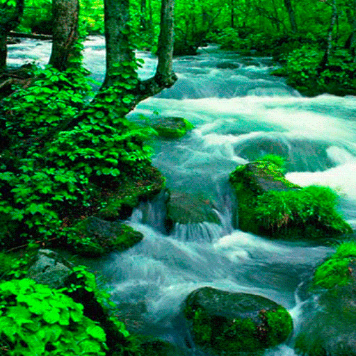 Hilly River Live Wallpaper