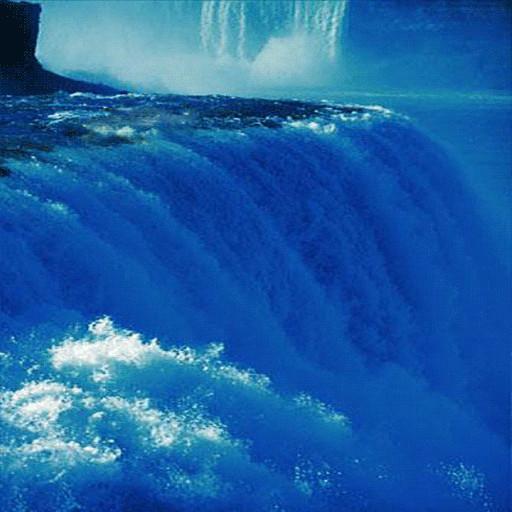 Blue Waterfall Live Wallpaper