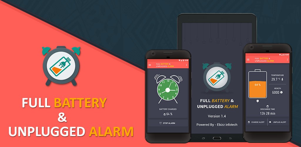Full Battery & Unplugged Alarm