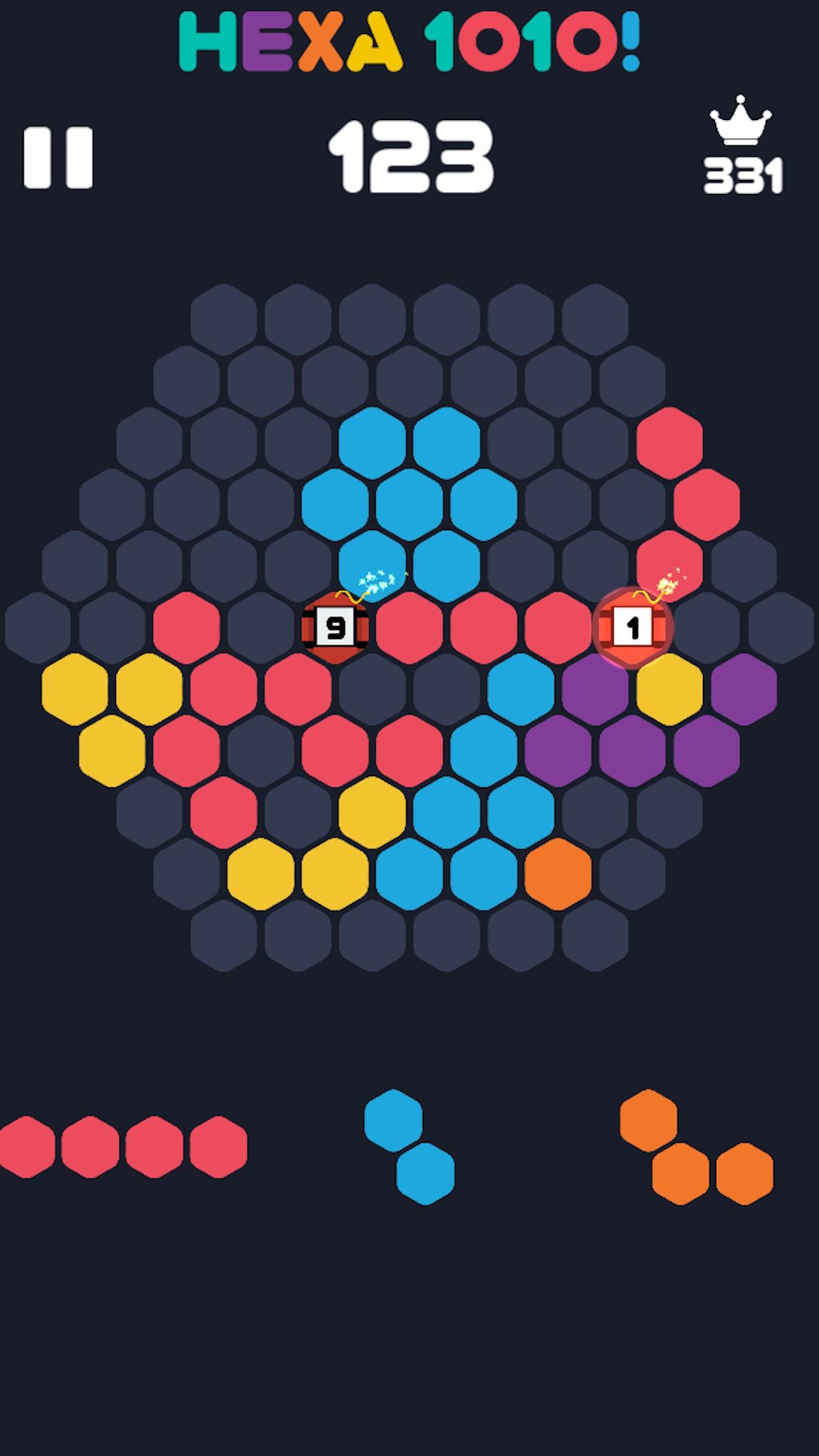 Free hexagon games