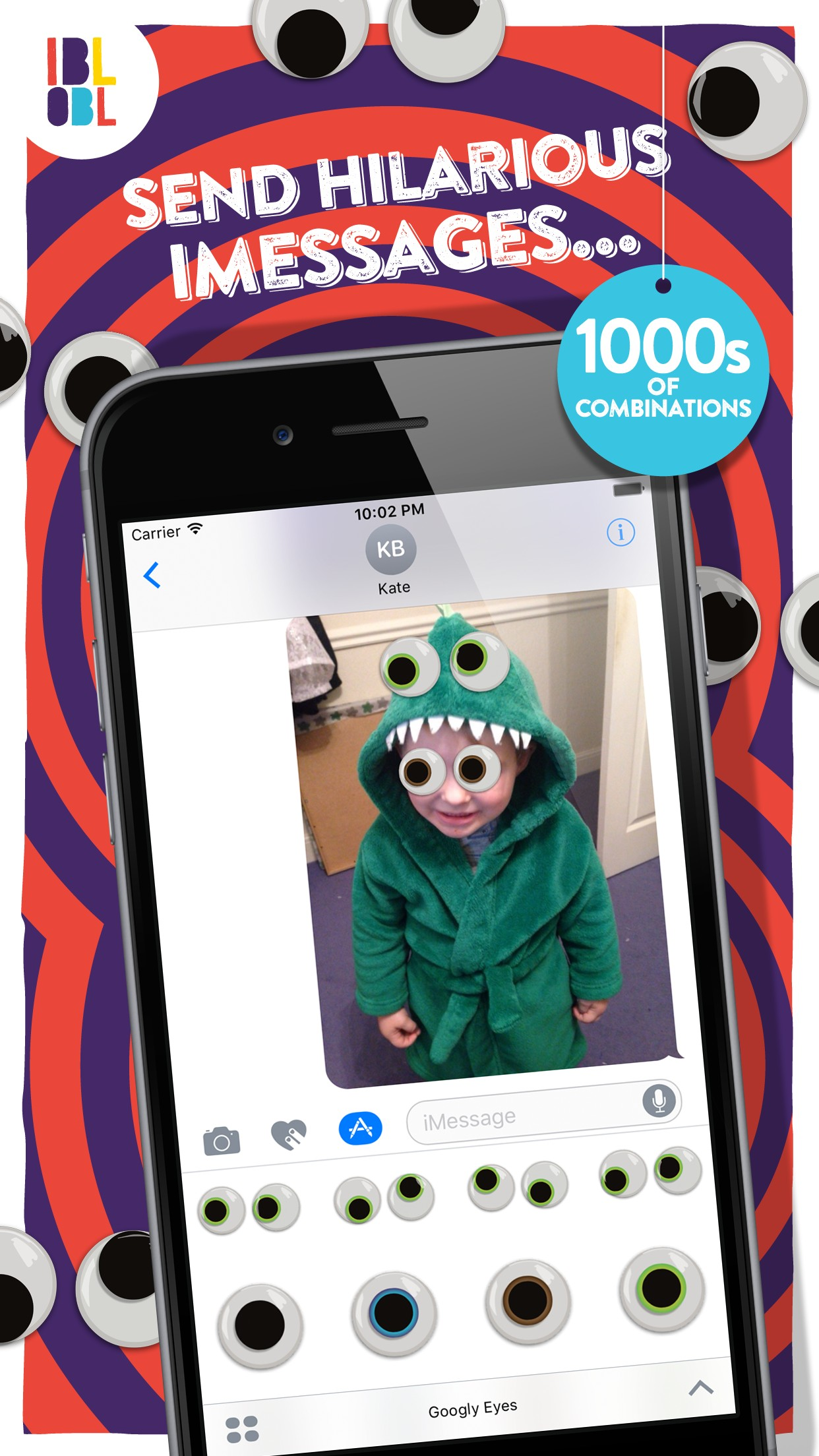 Ibbleobble Googly Eye Stickers for iMessage